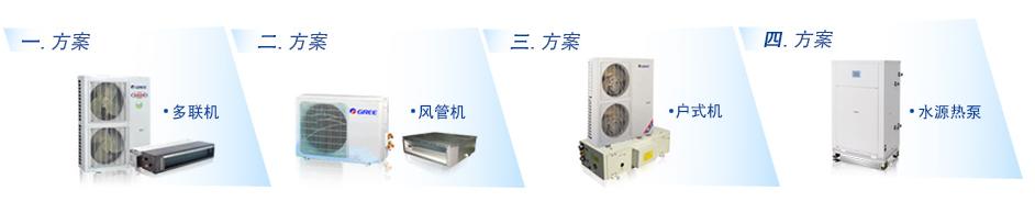家用中央空调常见的四种方案